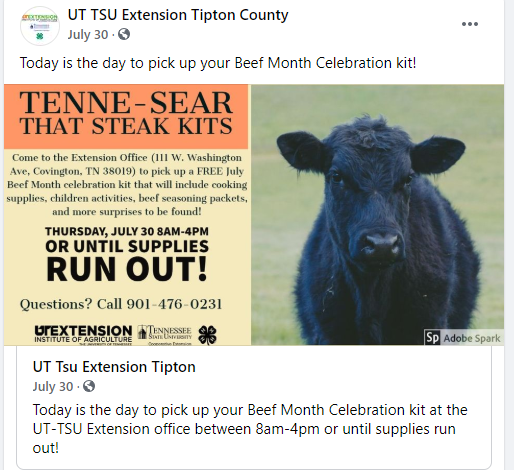 TIPTON COUNTY 4-H WINS TENNESSEE BEEF BACKER AWARD